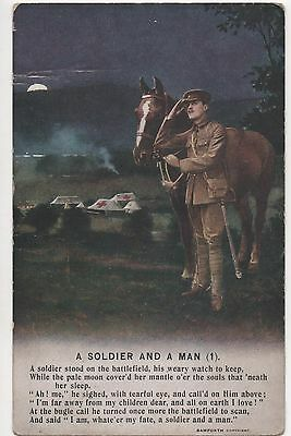 POSTCARD  SONG CARD  A Soldier and a Man  (1)