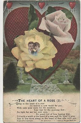 POSTCARD  SONG CARD  The Heart of a Rose (2)