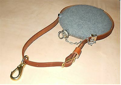Leather Saddle Canteen Strap - Civil War  Western  Cavalry Bullseye - BROWN