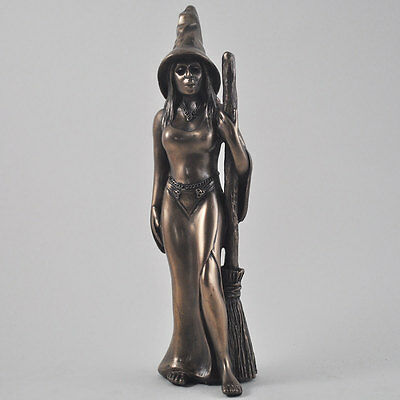 Stunning Large Cold Cast Bronze Witch Figurine Statue Sculpture New & Boxed