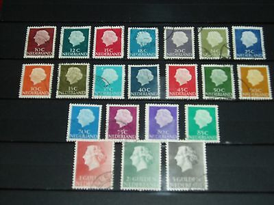 Netherlands - 1953 Queen Juliana 21 different used