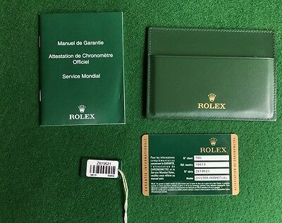 rolex submariner 16613 2007 chronometer guarantee card