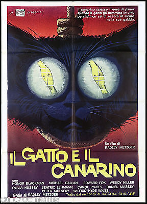 Il Gatto E Il Canarino Manifesto Cinema Giallo 1978 Cat Canary Movie Poster 2F