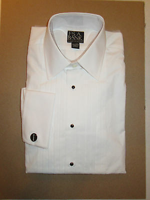 Jos A Bank Classic collection formal tuxedo dress shirt point collar 16.5  - 33