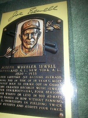 Josheph Wheeler Sewell autographed Hall of Fame plaque