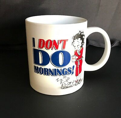 Betty Boop - I Don't Do Mornings - Cuddle Cup Mug