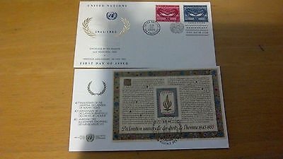 Pair of United Nations FDC,s