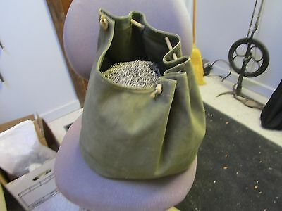 vtg. US MILITARY camouflage net and bag maybe for howitzer M1 tank?, Canvas Bag