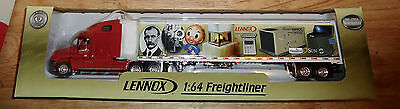 LENNOX DIECAST METAL 1:64 SCALE FREIGHTLINER TRUCK Bank Crown Premiums #71W52