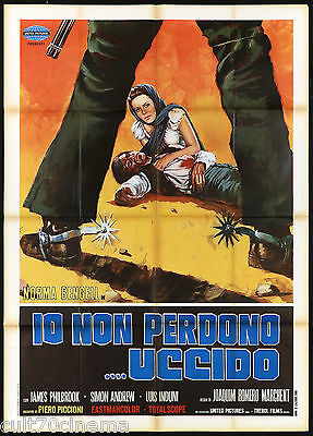 Io Non Perdono.. Uccido Manifesto Cinema Western 1968 Fedra West Movie Poster 2F