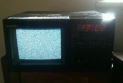 Matsui MCT 650 colour tv clock radio combo vintage retro