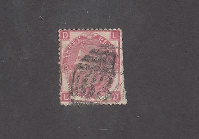 GB # 49 PLATE 5 LIGHT USED 3p ROSE CAT VALUE $62.50