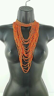 Authentic Maasai handmade beaded Necklace very beautiful - red