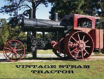 Postcard Of A Vintage Steam Tractor Unknown Location In Usa