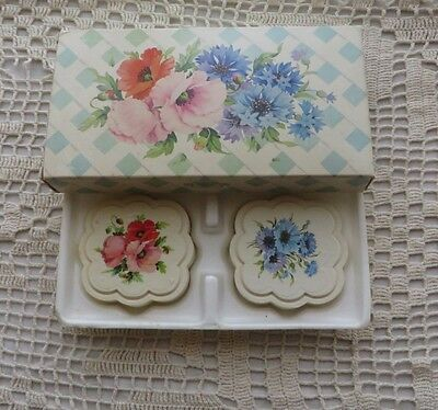 Vintage 70s Avon Country Garden Special Occasion Fragranced Hostess Soap w Box