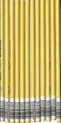 12 Vintage #PC 1011 Deco Yellow Prismacolor Thick Soft Core Pencils made in USA