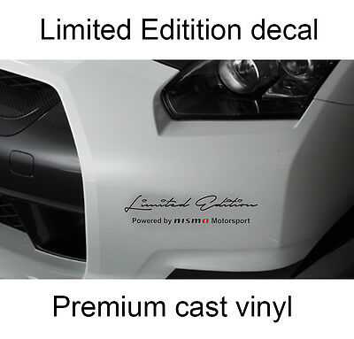 Set of 2 x Limited edition Nismo body side hood Decal Sticker fits Nissan GTR