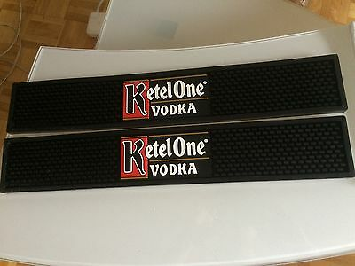 Ketel One Vodka Bar Rubber Counter Spill Rail Mat red white black alcohol CANADA
