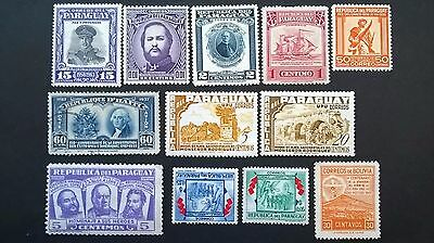 37  Paraguay , Chile , Argentina , Bolivia stamps