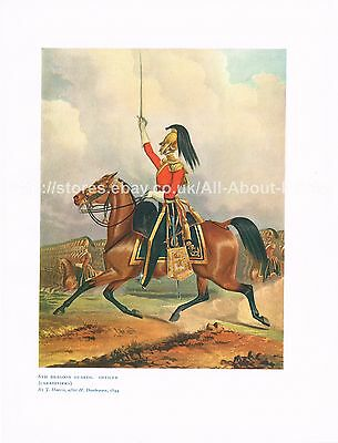 6th Dragoon Guards Officer (Carabiniers) Antique British Military Picture Print