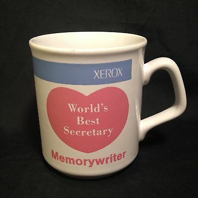 Vtg Xerox Memorywriter World's Best Secretary Mug Rare English French