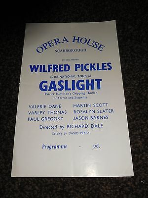 Wilfred Pickles In Gaslight At The Opera House, Scarborough Theatre Programme