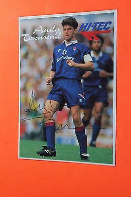 Andy Townsend (Chelsea - Aston Villa) Signed PR Card