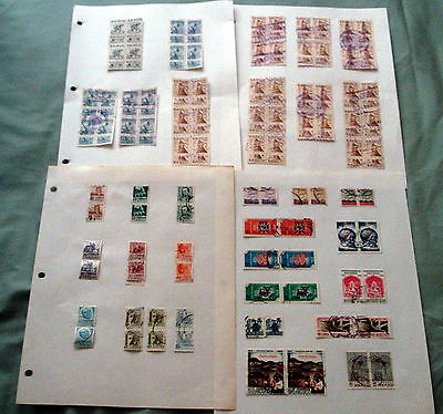 920+ Mainly Fine Used Mexico Mexican Stamps In Pairs & Blocks.