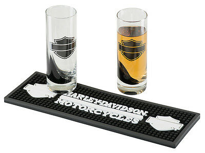 Harley Davidson Silhouette Bar & Shield Shooter Set by ACE