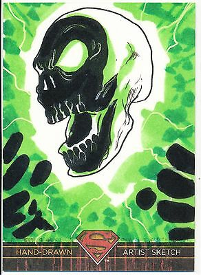 2013 DC Superman the Legend sketch card of the Atomic Skull by Jon Hughes 1/1 !