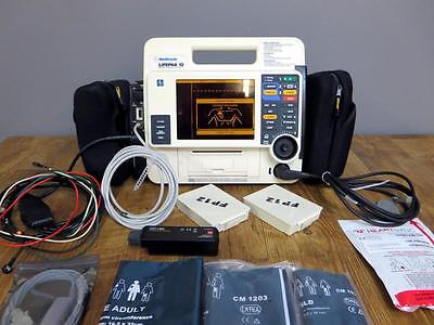 Lifepak 12 Biphasic 12 lead LOADED Spo2 NIBP Etco2 CO2 Pacing AED Analyze