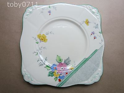 Plant Tuscan China Art Deco Floral Cake Plate Pattern 4000A