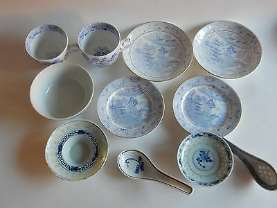 Blue and White china - various items