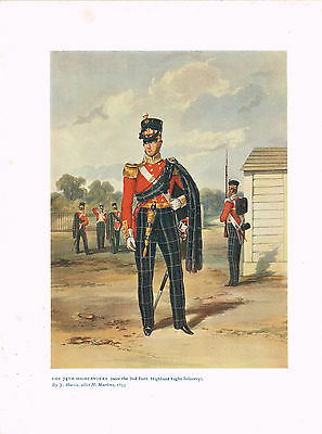 The 74th Highlanders (2nd Batt Highland Light Inf Antique Military Picture Print
