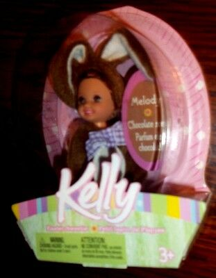 Barbie Melody Kelly Doll 5 Inch Chocolate Bunny Outfit 2004 New