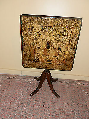 One Of A Kind Victorian Decoupage Tilt Top Table