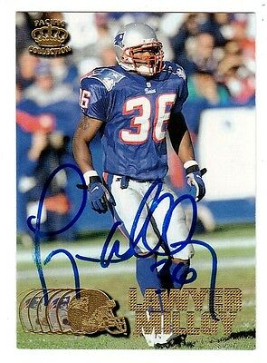 1997 Pacific Lawyer Milloy Patriots Safety Nfl Football Signed Card