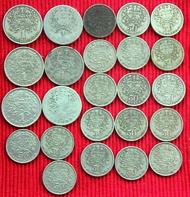 PORTUGAL - 24 x Coin Mix 1927 - 1968