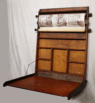Powers Brothers 1895 Antique Wood Wooden Childs Student Portable School Desk Lap