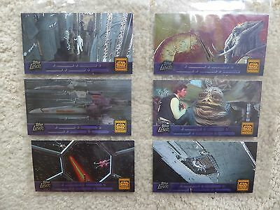 Star Wars Widevision Laser cut complete 6-card set Trilogy Special Edition lot