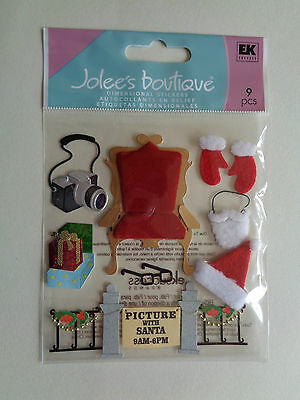 Ek Success Jolee's Pictures With Santa Dimensional Stickers Bnip