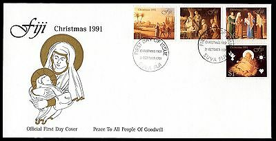 Fiji 1991 FDC Christmas Issue - Set of 4
