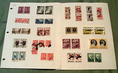 280+ Mainly Fine Used South America Stamps In Pairs & Blocks, Argentina, Bolivia