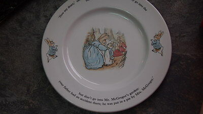 Wedgewood Dinner Plate Peter Rabbit Made In England Beatrix Potter Christmas