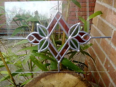 Hand made stained glass panel 28cm by 40cm not  in frame