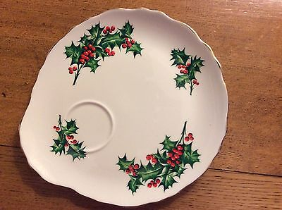 Tuscan China December Holly Plate
