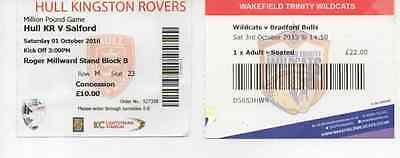 2 X 2015-2016 Million Pound Games Match Tickets-Collection-Bulk Rugby League
