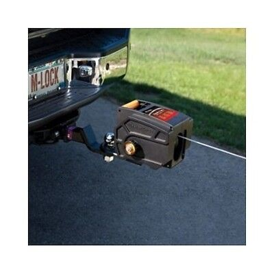 Portable Trailer Winch 12V DC Electric Hitch Hand Crank Haul Boats Cars Vehicles