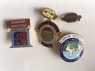 Bowling Bowls Club Enamel Pin Badge Collection