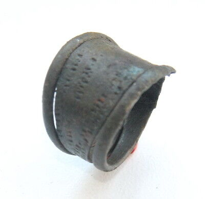 Ancient Old Viking Bronze Decorated Ring (DEC35)